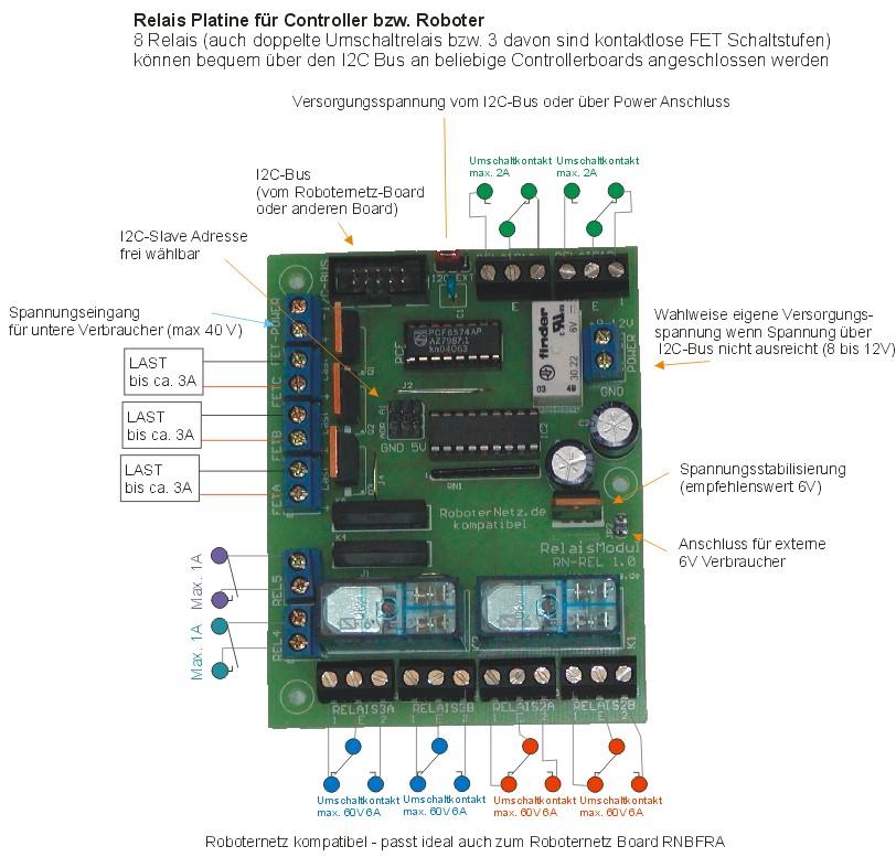 I2C Relais-Board