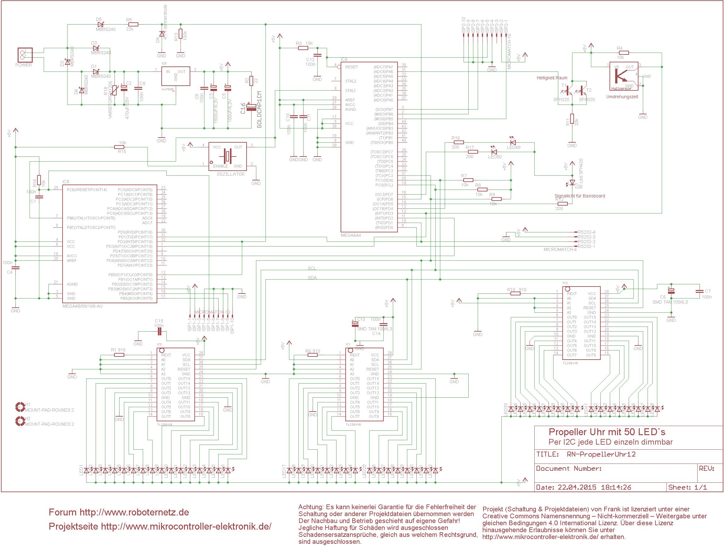Propeller Clock Projekt mit Tipps zum EigenbauMikrocontroller ...
