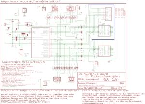 AVR Controllerboard RN-Mega8Plus Schaltplan