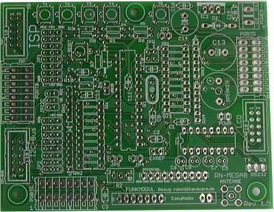 AVR Controllerboard RN-Mega8Plus Platine