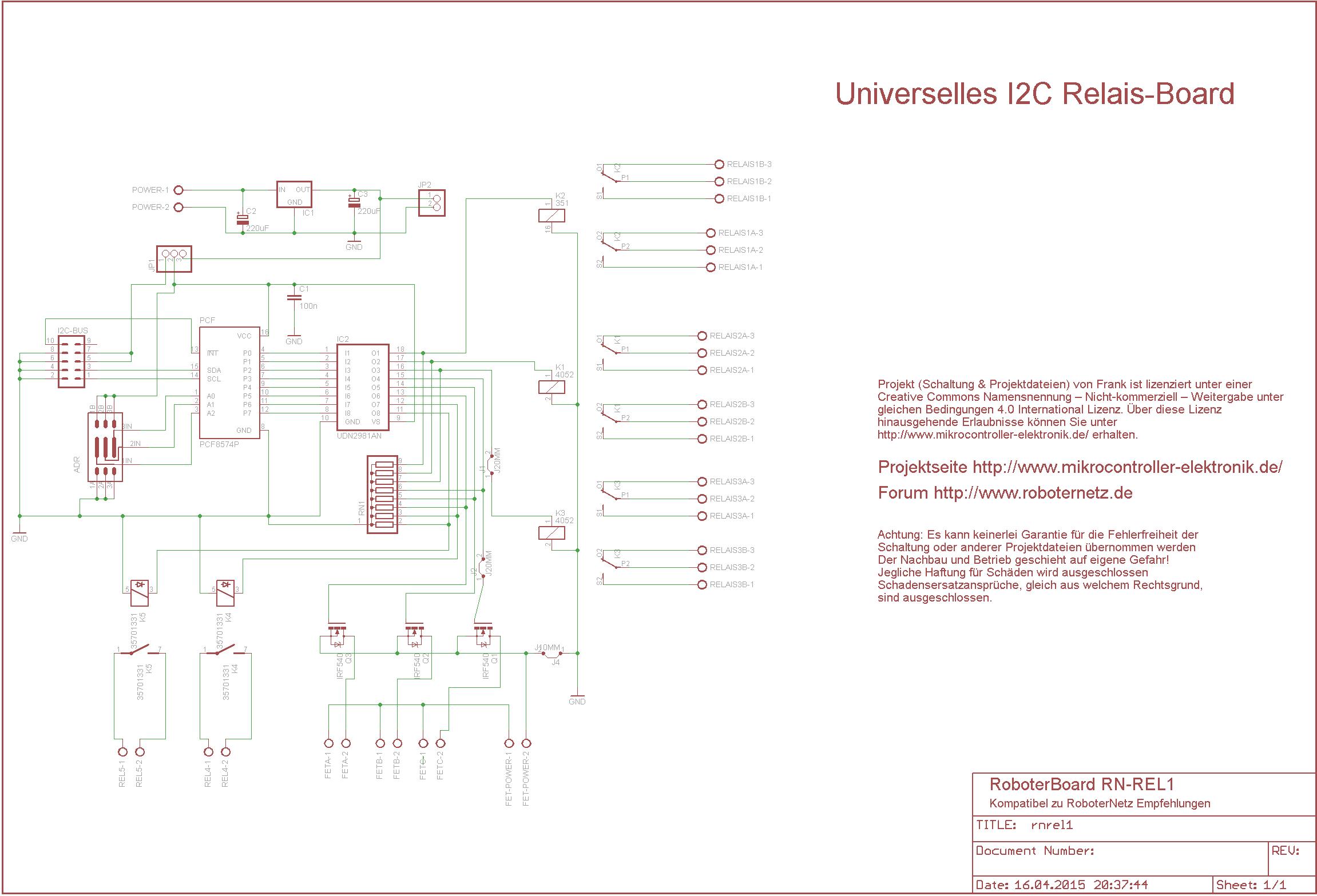 I2C - Relaiskarte - Mikrocontroller-Elektronik.deMikrocontroller ...