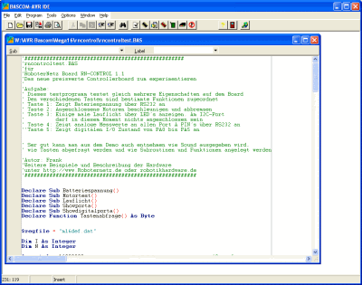 Bascom Compiler Screenshot