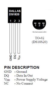 Digitaler Temperatursensor DS18S20