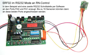 RN-Control und Ultraschallsensor SRF02