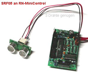 Pinbelegung Ultraschallsensor SRF05