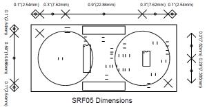 Dimension Ultraschallsensor SRF05