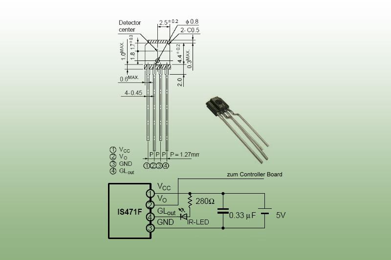 Infrarot Entfernungsmesser Sharp : Is471 infrarot distanzsensor mikrocontroller elektronik
