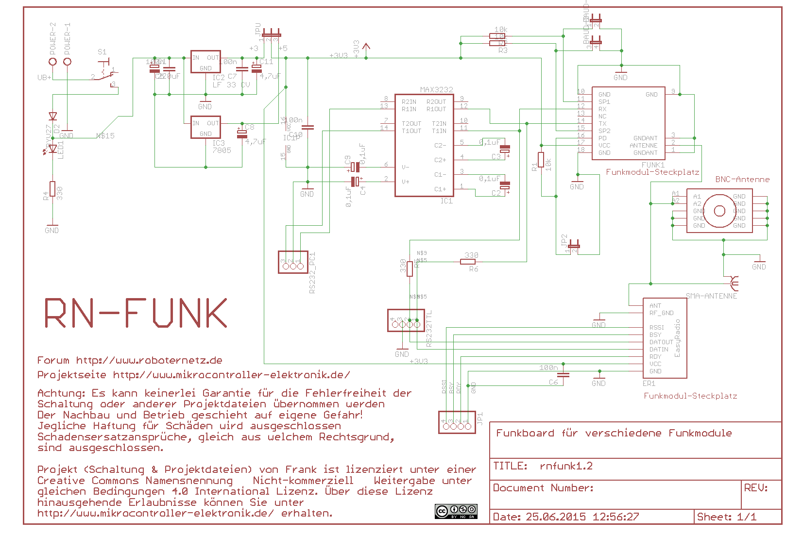 RN-Funk - Funkmodul nach RS232 Adapter