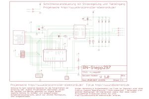Schaltplan Schrittmotortreiber für Schrittmotoren mit bis zu 2A Phasenstrom