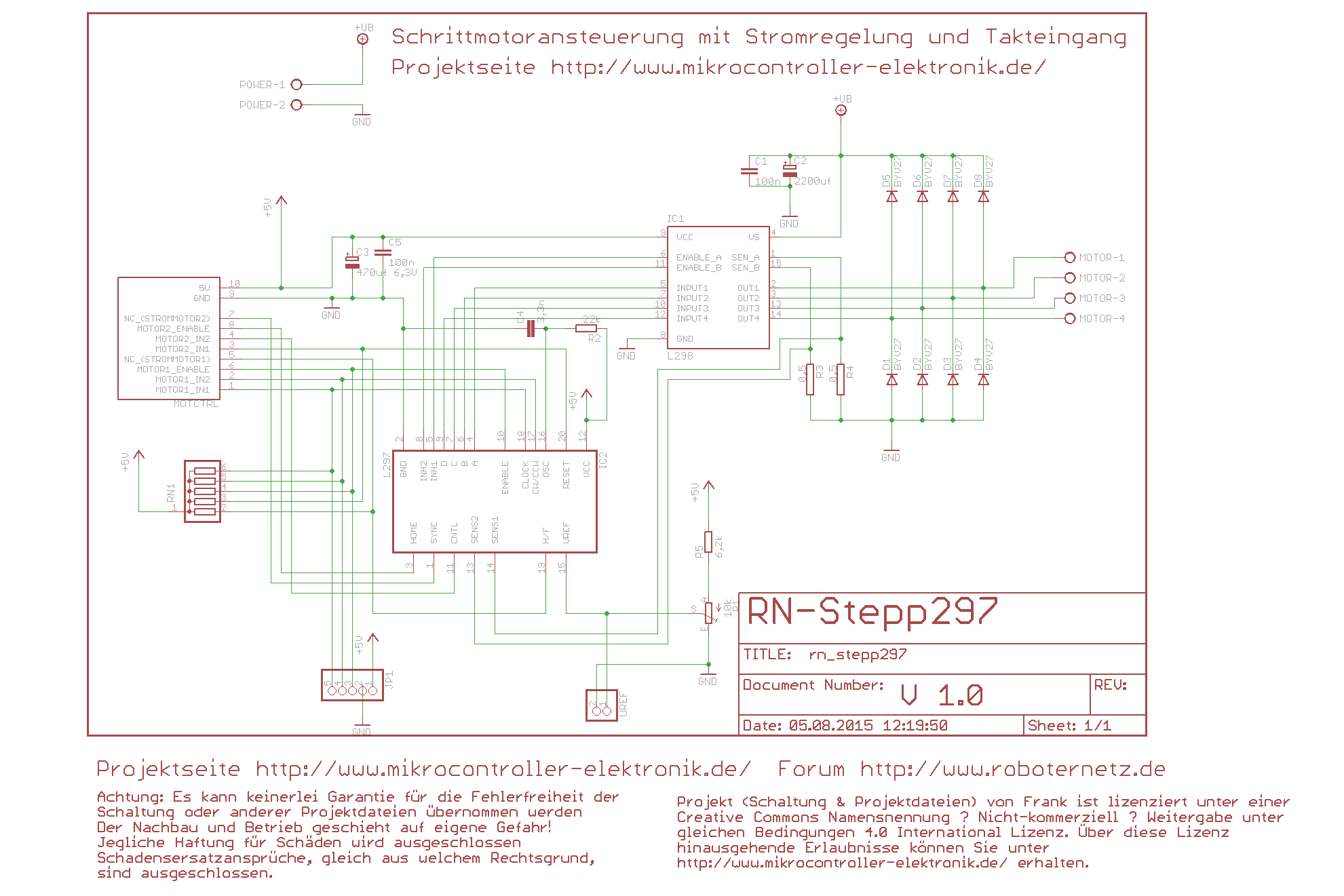 Schrittmotor ansteuern - Bauanleitung für Schrittmotortreiber