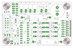 Bestückungsplan Schrittmotortreiber für Schrittmotoren mit bis zu 2A Phasenstrom