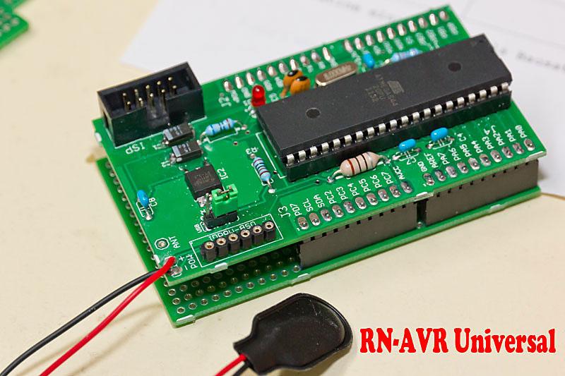 RN-AVR Universal-Experimentierplatine und Alleskönner