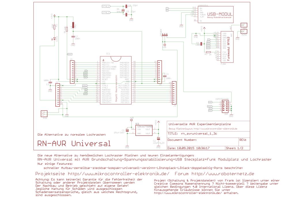 RN-Avr-Universal Experimentierplatine