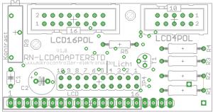 Bestückungsplan Schaltplan LCD an Mikrocontroller anschliessen