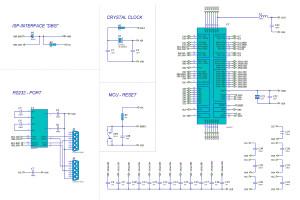 Schaltplan Mikrocontroller Zilog Z8 Encore Schaltung