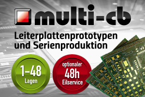 Multi-CB liefert Roboternetz & Mikrocontroller-Elektronik.de Leiterplatten