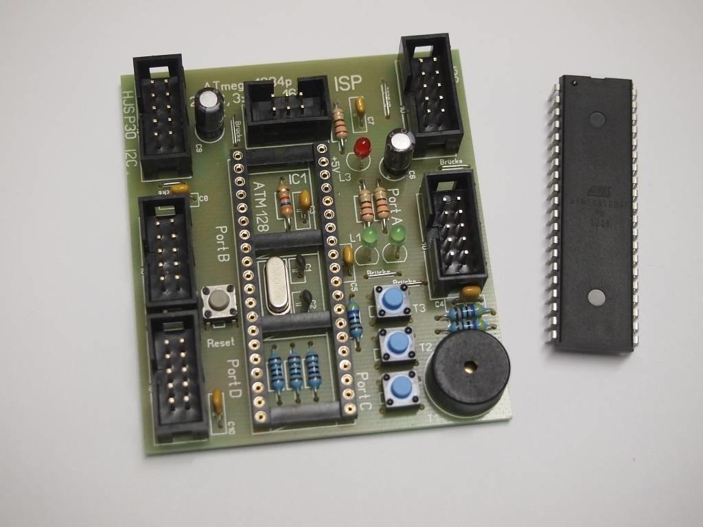 Atmel ATmega1284P Board für die Hutschiene
