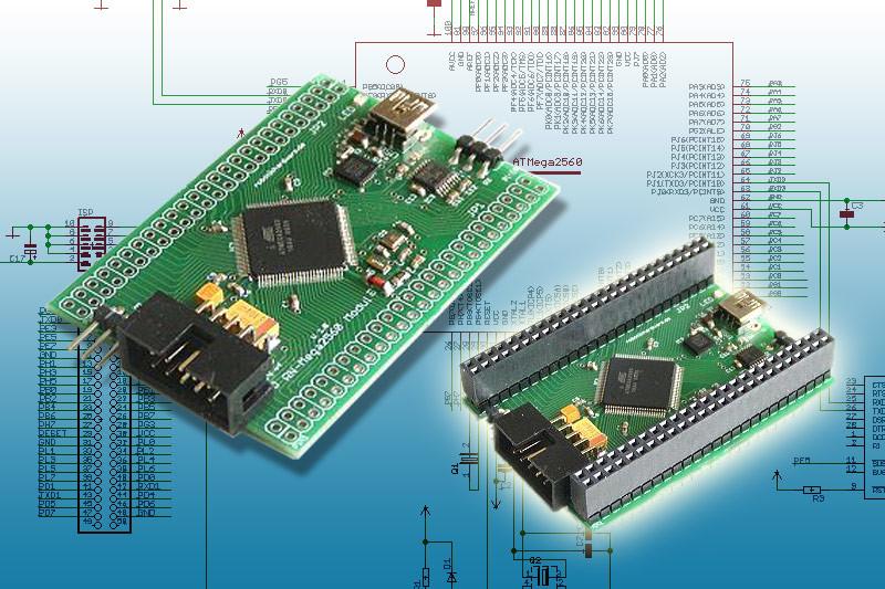 Bauanleitung Mini Controllerboard mit Atmel ATmega2560 und USB