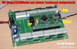 Testboard für ATmega2560 Modul