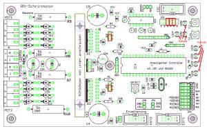 Bestückungsplan Leiterplatte Programmierbare Schrittmotor Ansteuerung RN-Schrittmotor