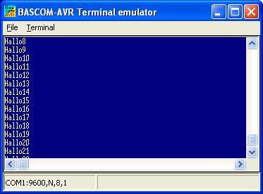 Bascom Terminalprogramm und Mikrocontroller