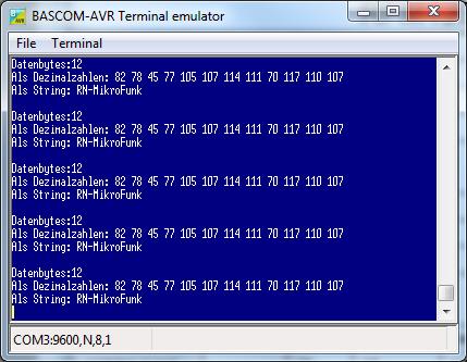 Daten Empfang mit Funkmodul RFM12