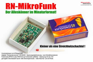 RN-MikroFunk – Mini AVR Microcontroller Modul mit Funkmodul