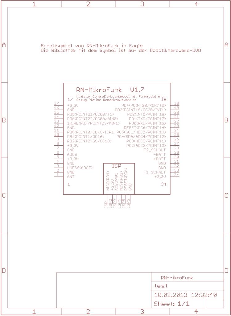 RN-Mikrofunk als Schaltsymbol in einer Eagle Lib