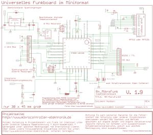 Schaltplan - RN-MikroFunk – Mini AVR Microcontroller Modul mit Funkmodul