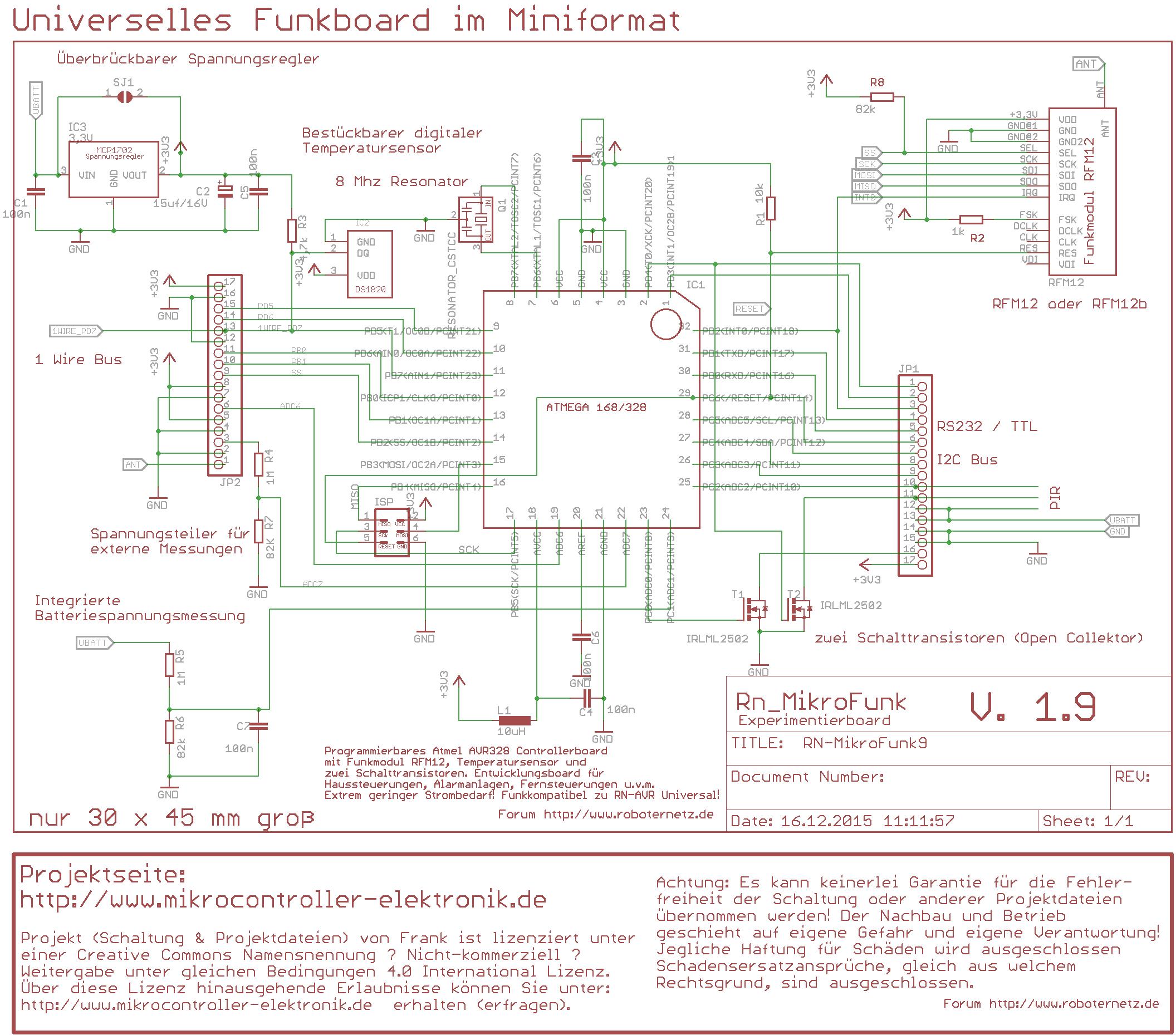 RN-MikroFunk - Mikrocontroller Projekt mit Funkmodul