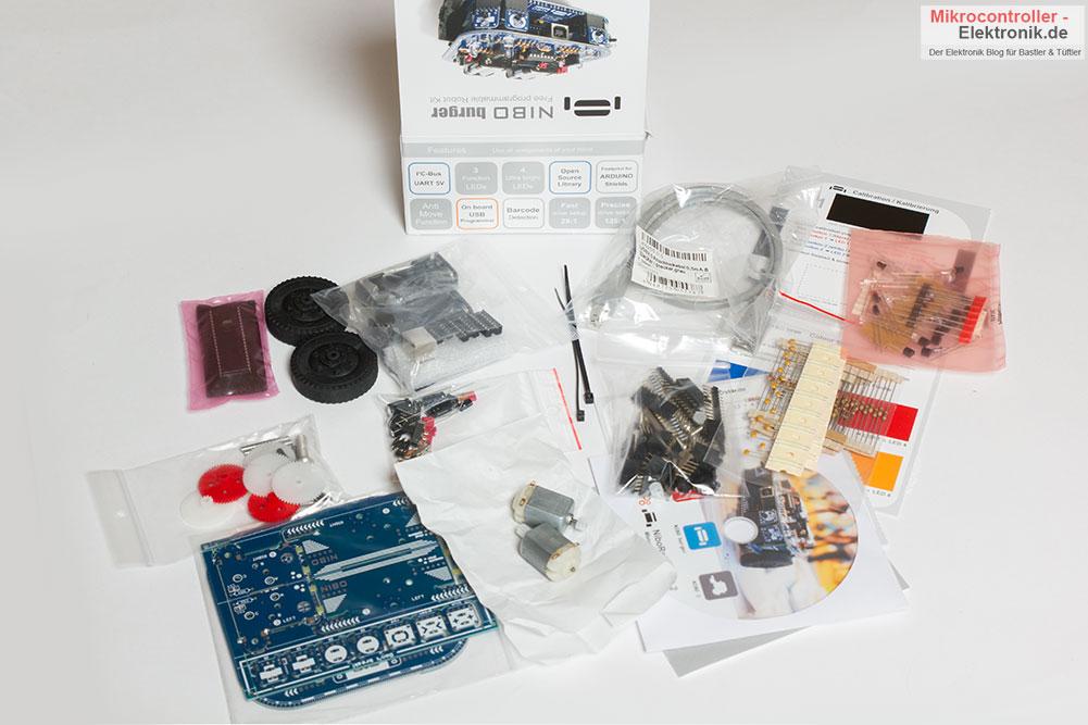 Roboter Nibo Burger Bauteile