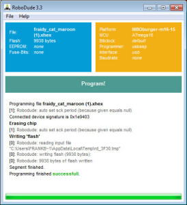 Roboter Nibo Burger Online-Compiler