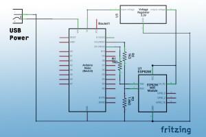 wifi-Pretzel-Board-Verschaltung