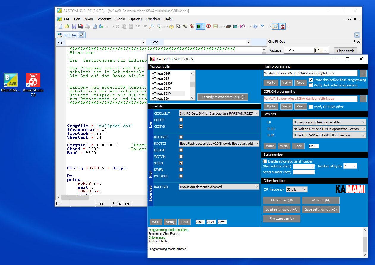 Isp Programmer Fr Arduinobascom Und Atmel Studio In Windows Avr Sytem For Kampro Bascom Funktioniert