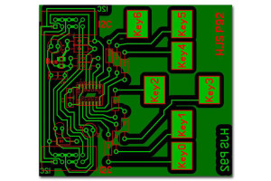 qtouch-Schaltung-chip-AT42QT1070-Platine-Foto