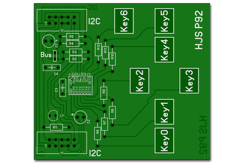 qtouch-Schaltung-chip-AT42QT1070-Platine
