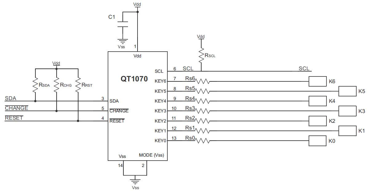 qtouch-Schaltung-chip-AT42QT1070-Schaltungsskizze