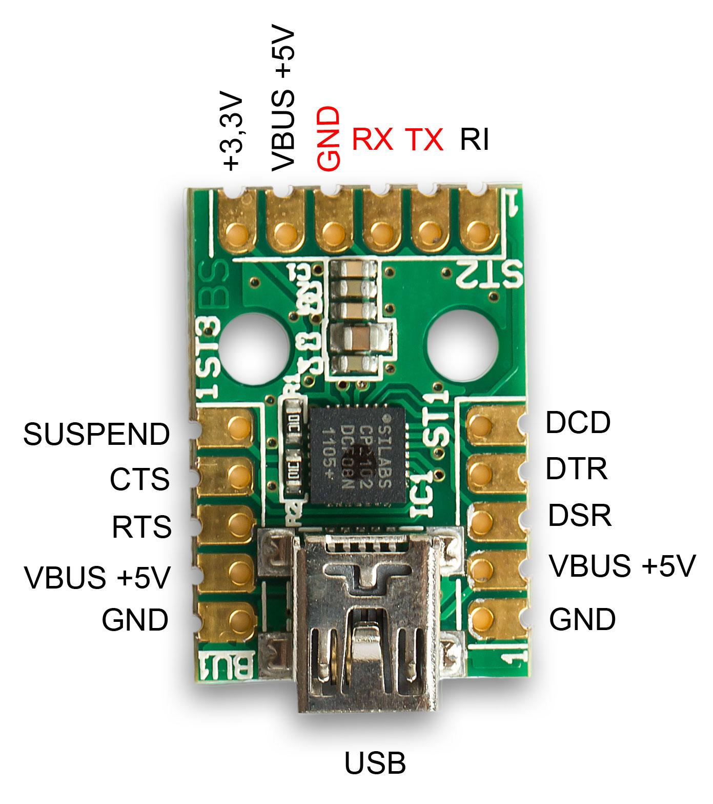 Mini-USB-Modul-UM2102_pinbelegung
