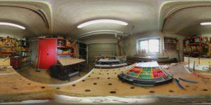 Unbearbeitetes 360 Grad Foto der LG 360CAM