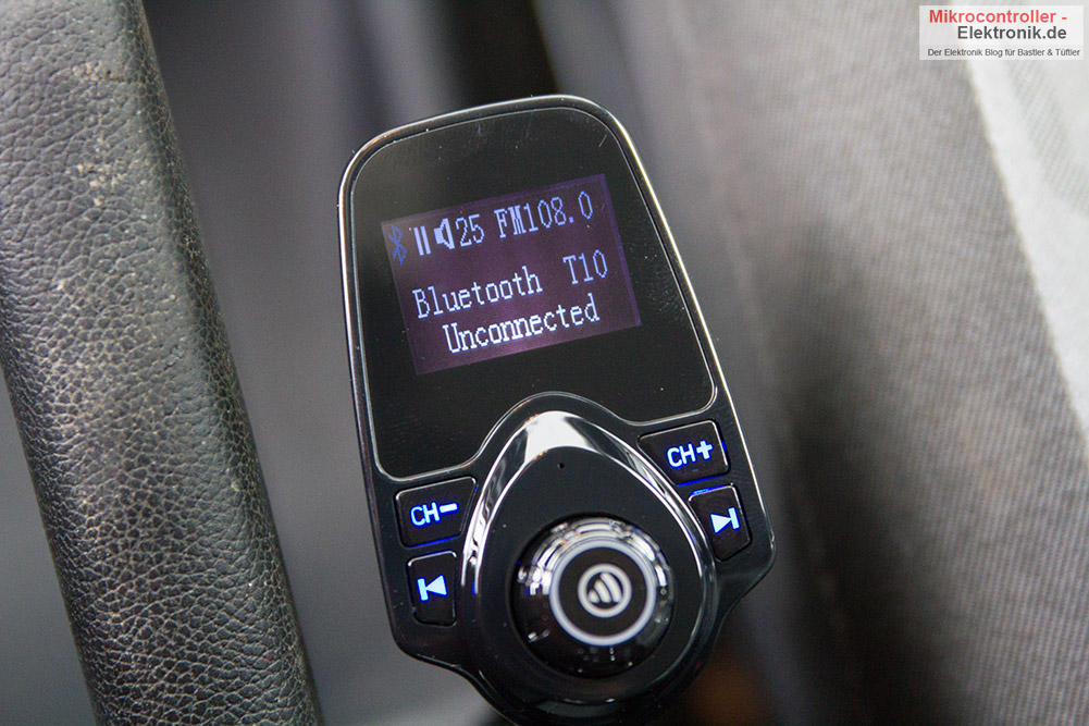auto bluetooth freisprecheinrichtung mit fm transmitter. Black Bedroom Furniture Sets. Home Design Ideas