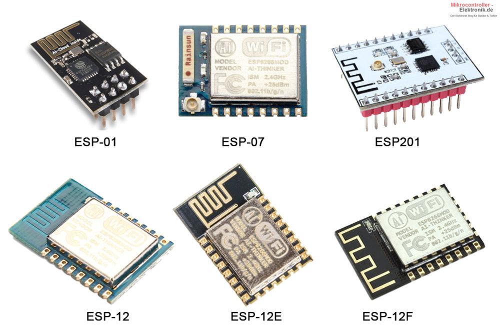 ESP8266-Modul-Varianten