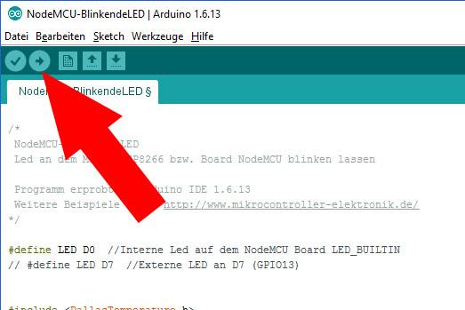 NodeMCU-Arduino-IDE-Uebertragen