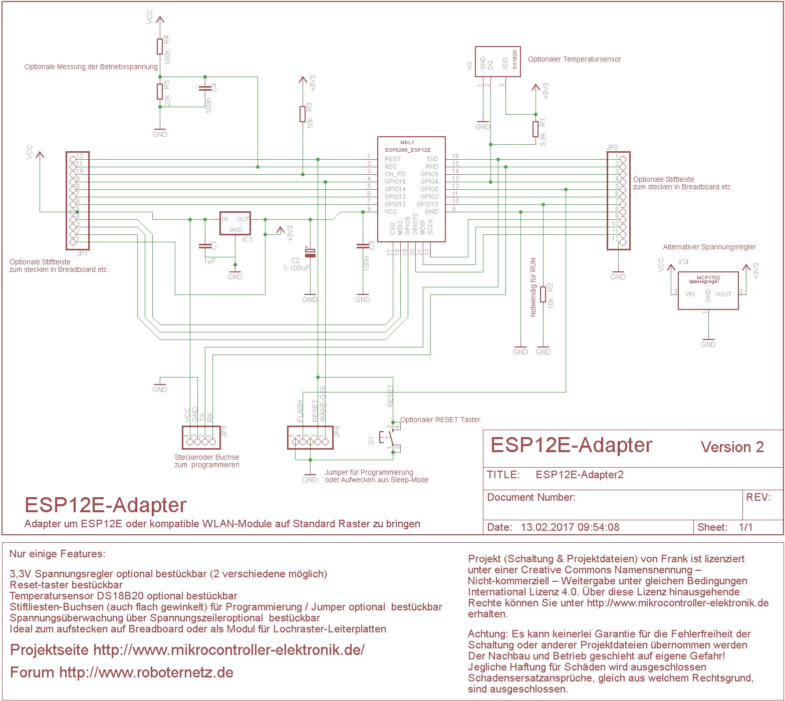 ESP12E-RN-Adapter-Schaltplan