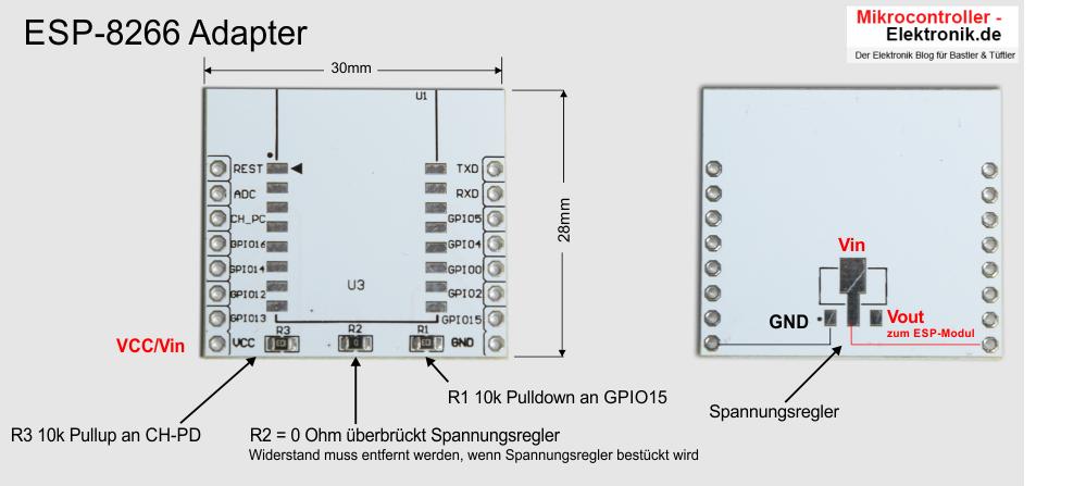 Verschaltung des handelsüblichen ESP-Adapters