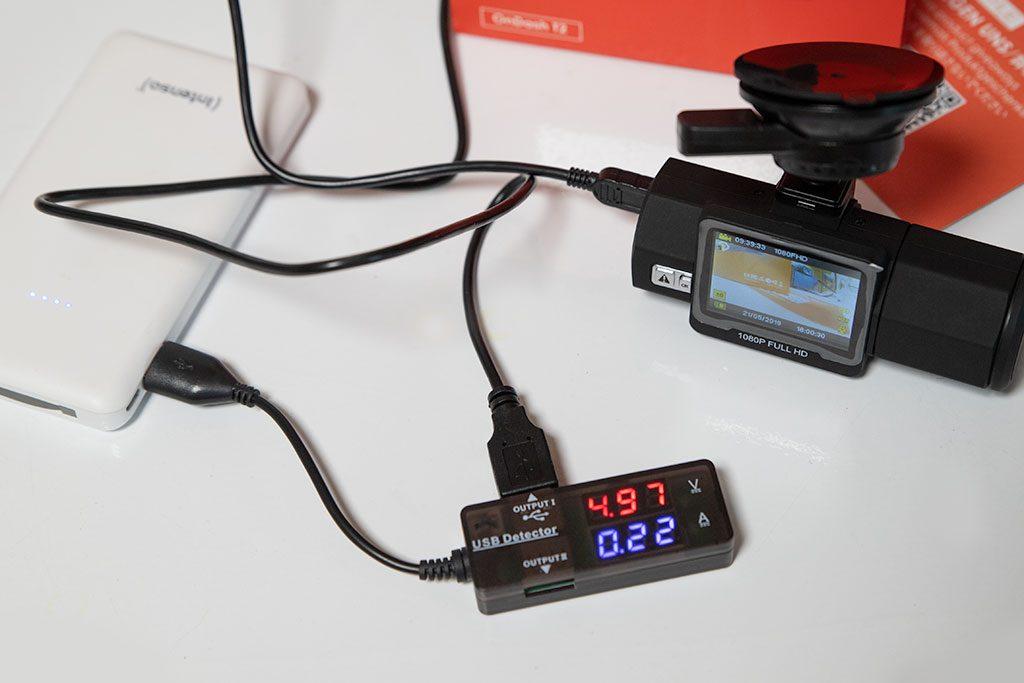 VANTRUE-T2-OBD-Dashcam-1080P-Stromaufnahme