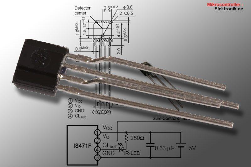 Infrarot Sensor Entfernungsmessung : Is infrarot distanzsensor mikrocontroller elektronik