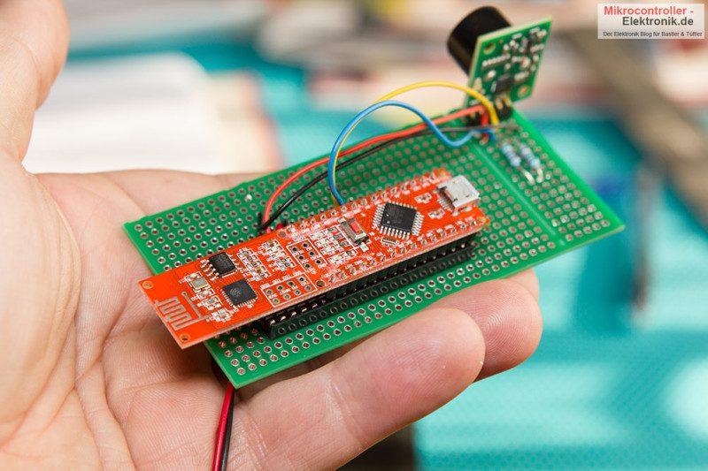 Ultraschall Entfernungsmesser Schaltplan : Wifi board: nanoesp bzw. pretzel board für bastlermikrocontroller